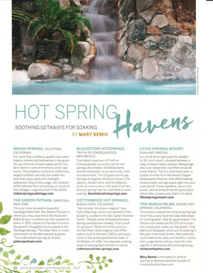 Spirituality & Health Magazine: Hot Spring Havens