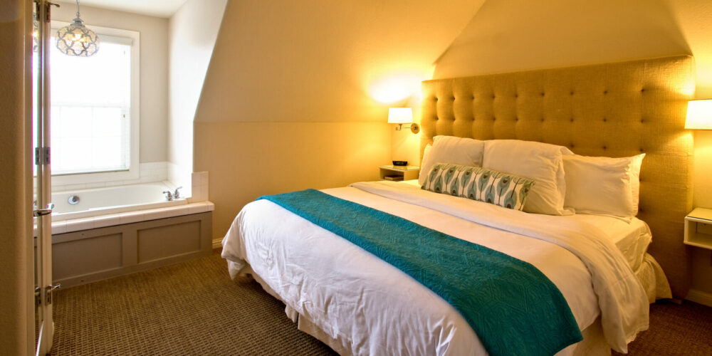 This is a spacious suite located on the second floor. Settle in for the night on a plush pillow-top King size bed draped with opulent linens and feather soft pillows.View Details